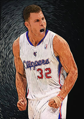 Blake Digital Art - Blake Griffin by Taylan Apukovska