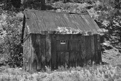 Photograph - Blake Gulch Shack by Richard J Cassato