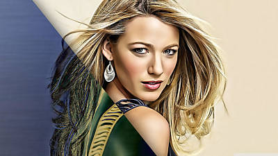 Blake Mixed Media - Blake Lively Collection by Marvin Blaine