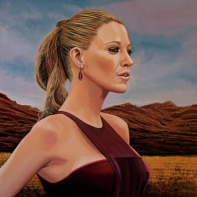 Blake Lively Painting Art Print by Paul Meijering