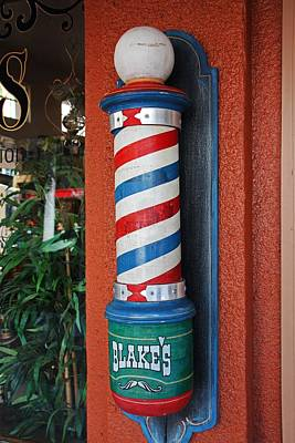 Photograph - Blake's Barbershop Pole Vector I by Michiale Schneider