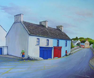Blakes Corner Ennistymon Art Print