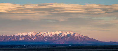 Photograph - Mount Blanca In Winter Sunset San Luis Valley, Colorado by John Brink