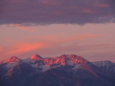 Colorado Sunset Photograph - Blanca Peak Alpenglow by Connor Beekman