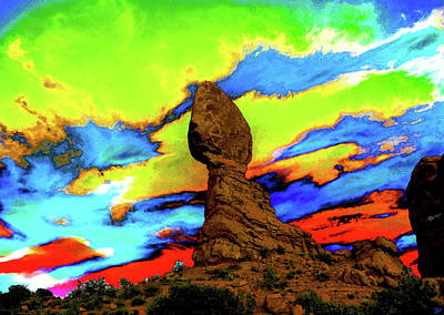 Painting - Blanced Rock Sky by David Lee Thompson