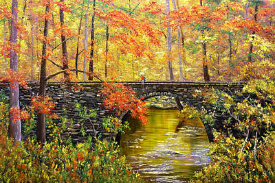Arkansas Painting - Blanchard Springs Arkansas by Connie Tom