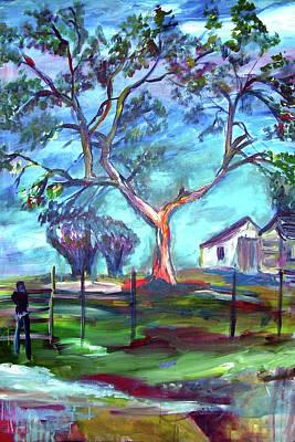 Blanco Texas Ranch House Art Print
