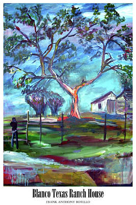 Painting - Blanco Texas Ranch House II by Frank Botello