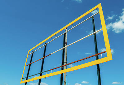 Photograph - Blank Billboard Against A Blue Sky Background by Alexandre Rotenberg