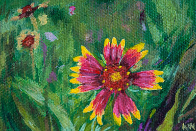 Painting - Blanket Flower - Gaillardia by Amber Woodrum