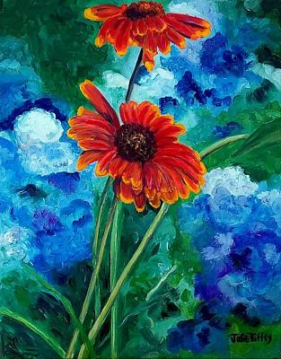 Painting - Blanket Flower by Julie Brugh Riffey