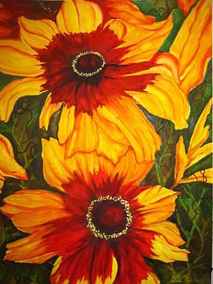 Blanket Flower Art Print by Lil Taylor
