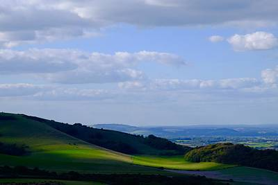 Photograph - Blanket Of Light On The South Downs by Will Gudgeon