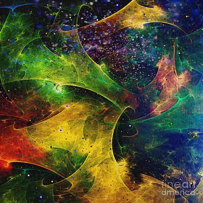 Art Print featuring the digital art Blanket Of Stars by Klara Acel