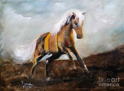 Blanket The War Pony Art Print