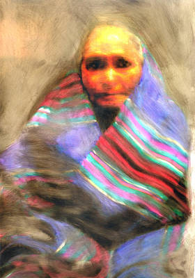 Art Print featuring the painting Blanket Weaver by FeatherStone Studio Julie A Miller