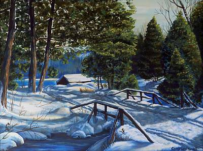 Painting - Blanketed Bridge by Phil Chadwick