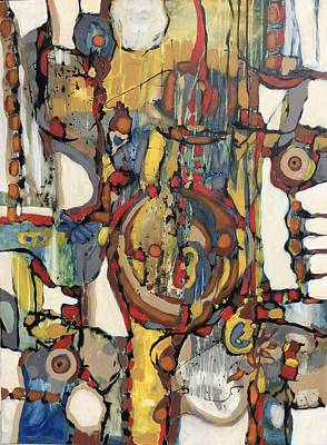 Painting - Blanquitos # 15 by Jeffrey Davies