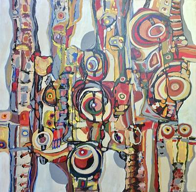 Painting - Blanquitos # 17 by Jeffrey Davies