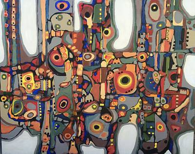 Painting - Blanquitos # 18 by Jeffrey Davies