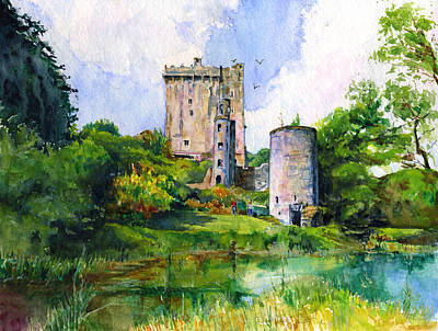 Blarney Castle Landscape Original by John D Benson