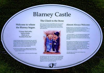 Blarney Castle Sign - Blarney Ireland Art Print