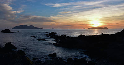 Photograph - Blasket Island Sunset by Barbara Walsh