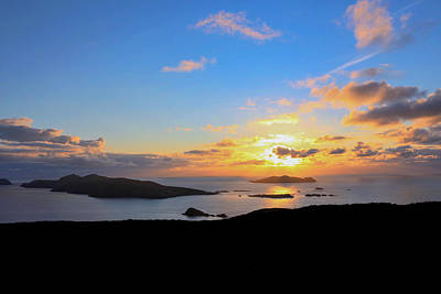 Photograph - Blasket Islands Dingle Sunset by Noel O Neill