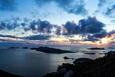 Photograph - Blaskets Islands Dingle Sunset by Noel O Neill