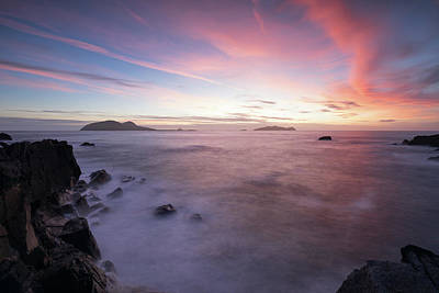 Photograph - Blaskett Island Sunset, County Kerry by Peter McCabe