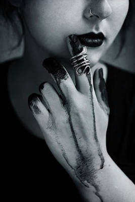 Black Ring Photograph - Blasphemia by Cambion Art