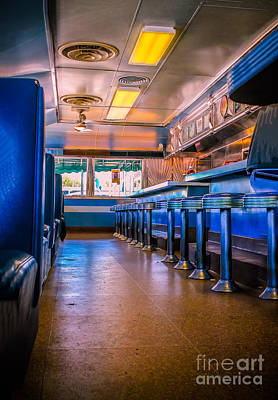 Old Diner Bar Stools Photograph - Blast From The Past by Claudia M Photography