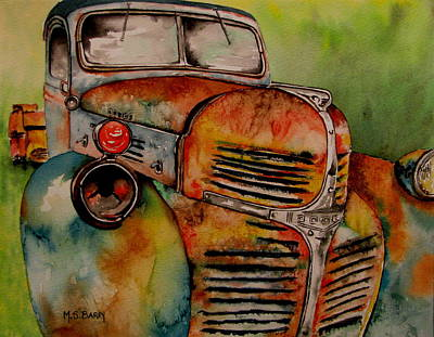 Junk Yard Painting - Blast From The Past by Maria Barry