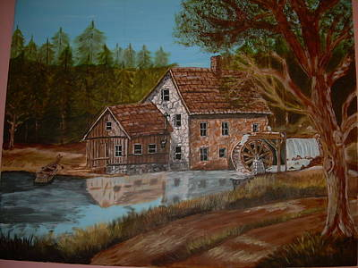Grist Mill Painting - Blast From The Past by Vickie Wooten