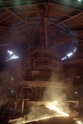 Blast Furnace For Steel Production Print by Ria Novosti