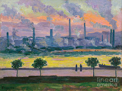Furnace Painting - Blast Furnaces In Bilbao by Celestial Images