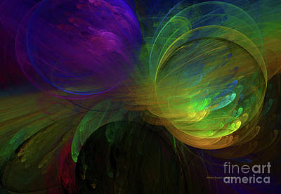 Generative Digital Art - Blast Of Color Abstract by Deborah Benoit