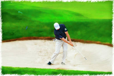 Photograph - Blasting Out Of Sand Trap by Dan Friend
