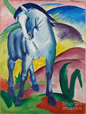 Marc Painting - Blaues Pferd I, Blue Horse by Celestial Images