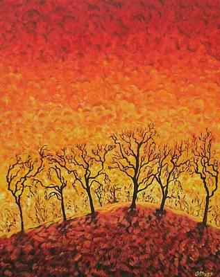 Blaze Art Print by Caroline Street