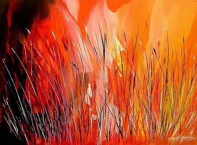Blaze Art Print by Yvette Sikorsky