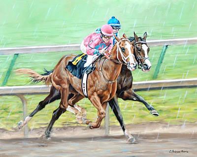 Painting - Blazin' Through The Rain by Carole Andreen-Harris