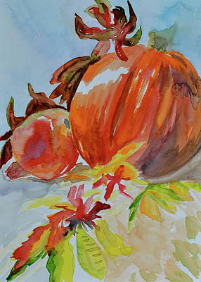 Art Print featuring the painting Blazing Autumn by Beverley Harper Tinsley