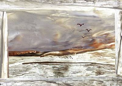 Painting - Blazing Billabong by Zilpa Van der Gragt