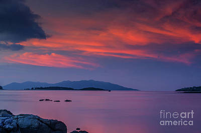 Photograph - Blazing Evening by Michelle Meenawong