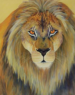 Lion Of Judah Painting - Blazing Eyes by Wendi Matson