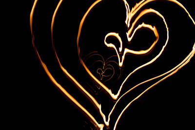 Burning Heart Wall Art - Photograph - Blazing Hearts by Marnie Patchett