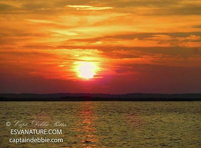 Photograph - Blazing Inlet by Captain Debbie Ritter