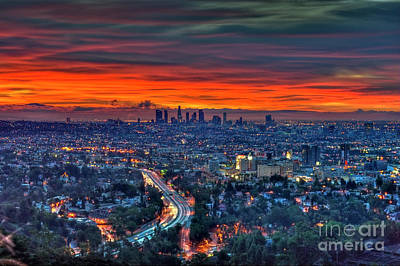 Photograph - Blazing La Sunrise Sky  by David Zanzinger