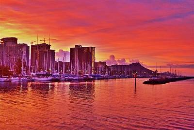 Photograph - Blazing Orange Morning by Melvin Ah Ching